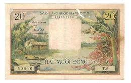 South Vietnam, 20 Dong, P-4. Crisp XF Paper, With Some Holes, See Scan. - Vietnam
