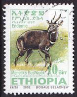 Timbre Oblitéré Ethiopie 2002 - Antilope - Ethiopie
