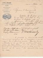Allemagne Lettre Illustrée 1/10/1906 J H L BRANDT Wein DANZIG - 1900 – 1949
