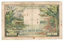 South Vietnam, 20 Dong, P-4. F. See Scan - Vietnam