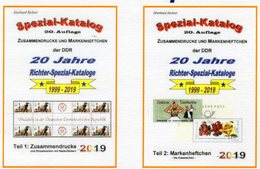 DDR Teil 1+2 Neu 50€ RICHTER 2019 Katalog ZD ZF/LF, Markenheft Carnets/se-tenants Special-catalogues Of GDR Germany - Sonderausgaben