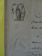 1806 (Basses-Alpes) Digne Timbre De 75c (Alpes-de-Haute-Provence) - Cachets Généralité