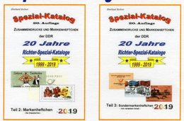 DDR Teil 2+3 Neu 50€ RICHTER 2019 Kataloge Mit Markenhefte+SMH Carnets/se-tenants Special-catalogues Of GDR Germany - Sonderausgaben
