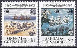 Grenada Grenadinen 1992 Organisationen OECS Entdeckungen Discovery Kolumbus Columbus Schiffe Ships Indian, Mi. 1583-4 ** - Grenada (1974-...)