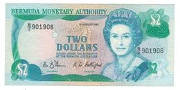 Bermuda 2 Dollars 1989, P-34. XF. - Bermudas