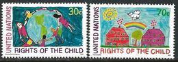 UN 1991 Scott 593-594 MNH Rights Of The Child - New York -  VN Hauptquartier