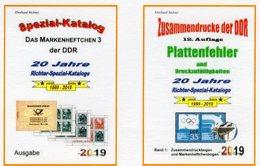 DDR Teil 4+5 Neu 50€ RICHTER 2019 Abarten Markenheft 3, Plattenfehler ZD Carnet/se-tenant Special Catalogue Germany - Speciale Uitgaven