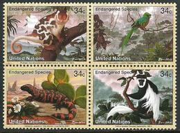 UN 2001 Scott 789-792 MNH Endangered Species, Animals - Ungebraucht