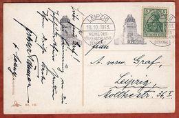 AK Erinnerung, EF Germania, MS Leipzig Weihe Des Voelkerschlacht-Denkmals, 1913 (70844) - Germany