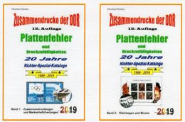 DDR Teil 5+6 Neu 50€ RICHTER 2019 Kataloge Plattenfehler ZD+ Abarten Blocks/KB Se-tenants Special Catalogue Germany - Sonderausgaben