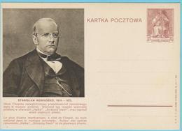 J.M.26 - Pologne - Entier Postal - N° 54 - S. Moniusko - F. Chopin - Compositeur - Musique