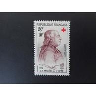 Timbre N° 1226 Neuf ** - Croix Rouge. Abbé De L'Epée - France