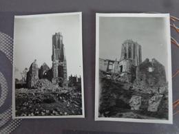 50 SAINT LO LOT DE 2  PHOTOS EGLISE RUINES  SUITE BOMBARDEMENT JUIN 1944 - Lieux