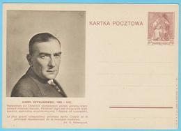 J.M.26 - Pologne - Entier Postal - N° 54 - K. Szymanowski - F. Chopin - Compositeur - Musique