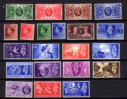 1935-51  Grande Bretagne, George V, George VI, J.O. De Londres, Entre 201 Et 261*, Cote 22 € - 1902-1951 (Kings)