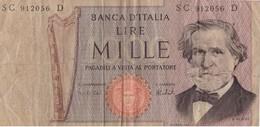 ITALIA - 1000 Lire Verdi DM 69 - [ 2] 1946-… : Républic