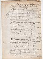 87/ BORNAGE PROPRIETE.MONTCHOISY.BARONNE DELACHANCE. 1862 - Vieux Papiers
