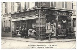 CPA Metz Papeterie Librairie F Conrard - Metz