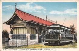 10791 - Etats Unis - West Park Trolley Station - Philadelphia - Etats-Unis