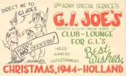 10797 - Etats Unis - Carte Illustrée - 9th Army Special Service's G.I Joes's - Etats-Unis