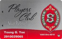 Silver Slipper Casino - Lakeshore, MS - Silver Preferred Slot Card Valid Thru 06/10 - Casino Cards