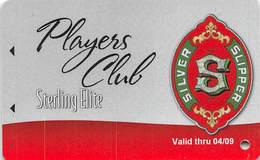 Silver Slipper Casino - Lakeshore, MS - Sterling Elite Slot Card Valid Thru 04/09 - Casino Cards