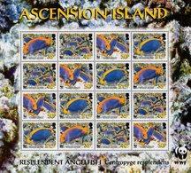 Ascension Island - 2007 - WWF - Resplendent Angelfish - Mint Miniature Stamp Sheet - Ascension (Ile De L')
