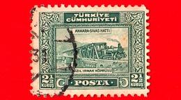 TURCHIA - Usato - 1930 - Ponte Della Ferrovia Su Kizilirmak - Ankara-Sivas Hatti - 2 ½ - 1921-... Repubblica