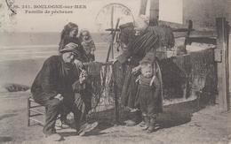CPA Boulogne-sur-Mer - Famille De Pêcheurs (très Belle Scène) - Boulogne Sur Mer