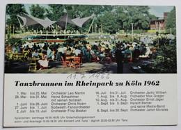 CPSM 1962 Cologne Köln Tanzbrunnen Inm Rheinpark Concert - Koeln