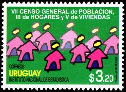 Uruguay 1996 Population And Housing Census Unmounted Mint. - Uruguay