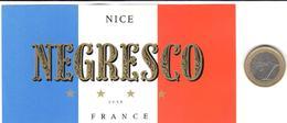 ETIQUETA DE HOTEL  -  NEGRESCO  -NICE  -FRANCE - Hotel Labels