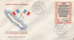 Enveloppe Commémorant Le 25ème Anniversaire Du Ralliement De La Nouvelle-Calédonie à La France Libre - Other