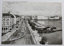 CPSM Allemagne Hambourg Hamburg Tramway Jungfernstieg Und Binnenalster - Autres