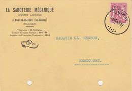 """Villers La Tour ( Lez Chimay )carte Publicité  """" La Saboterie Mécanique """" - Chimay"""