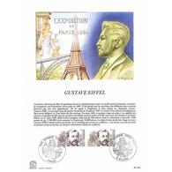 Encart Sur Papier Glacé - Gustave Eiffel - 18/12/1982 - Documentos Del Correo
