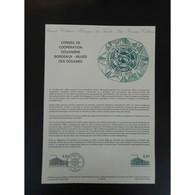 Document Officiel La Poste - Conseil De Coopération Douanière - Documents De La Poste