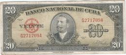 Cuba 20 Pesos 1958 Pk 80 B Ref 1733 - Cuba