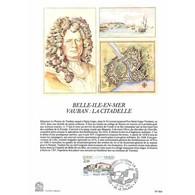 Encart Sur Papier Glacé - Belle-ile-en-mer, Vauban: La Citadelle - 26/05/1984 Le Palais - Documents De La Poste