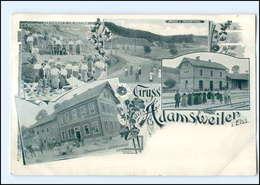 U5523/ Gruß Aus Adamsweiler Elsaß  Mit Bahnhof , Seinbruch AK Ca.1900 - Elsass
