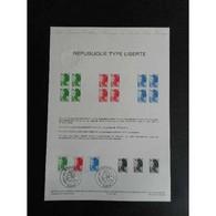 Document Officiel La Poste - République Type Liberté - Documents Of Postal Services