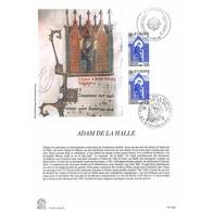 Encart Sur Papier Glacé - Adam De La Halle - 27/04/1985 - Documents Of Postal Services