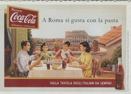 """""""BEVETE COCA COLA"""",  A ROMA SI GUSTA CON LA PASTA,SULLA TAVOLA DEGLI ITALIANI,CON BUCATINI ALL'AMATRICIANA,RICETTA,N/V - Ricette Di Cucina"""