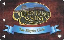 Chicken Ranch Casino - Jamestown CA - BLANK Slot Card - Casino Cards