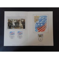 Encart De Luxe - Libération 6 Juin 1944 - Oblit Bayeux Et Caen - 4/6/94 - Documents De La Poste
