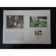 Encart De Luxe - Tableau Picasso - Le Printemps - Oblit Villeurbannne - 15/5/98 - Documents De La Poste