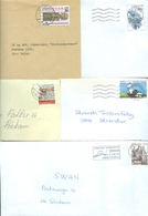 Faroe Islands. 5 Commercial Different Covers 1980es. Postal Used. - Faroe Islands
