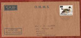 Luftpost, Dienstbrief, EF Vogel Mit Aufdruck, Cook Islands Nach Hamilton 1984? (70857) - Aitutaki
