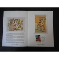 Encart De Luxe - Tableau Gaston Chaissac - Oblit Paris - 23/9/2000 - Documents De La Poste