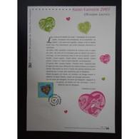 Document Officiel La Poste - Saint Valentin 2001 - Coeurs Christian Lacroix - Documents De La Poste